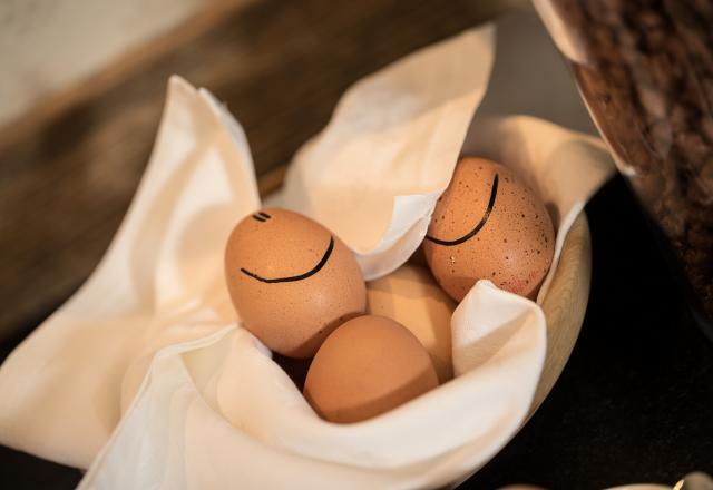 Frühstückseier Sonnleiten Dolomiten Residence mit Smiley