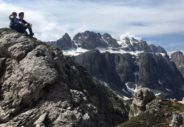 Ausblick Puez Gruppe Dolomiten