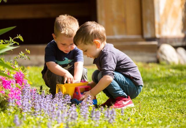 In Steinegg gibt es 3 Kinderspielplätze. Richtig viel Platz zum austoben für Kids.
