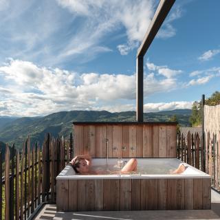 Dachterrasse Ferienwohnung Sterngucker in Südtirol