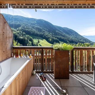 Balkon Ferienwohnung Sonnenadler in Südtirol