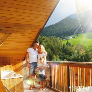 Sonnenparadies der kleinen Bären Terrasse mit Whirlwanne